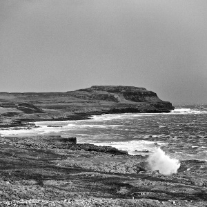 Watch the waves during winter storms on Mull
