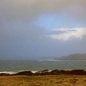 Mull storms winter cottages
