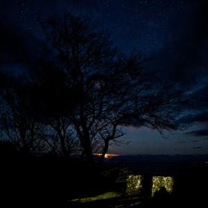 Mull winter moon Treshnish