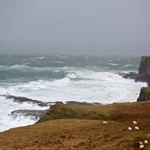 winter storms Mull cottages