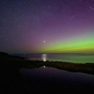 April Mull aurora stars cottages