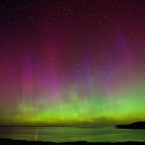 April auroras Mull cottages