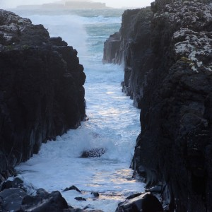 Witner Treshnish Isles storm