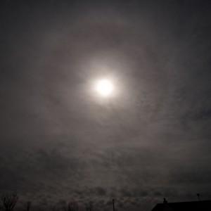 Christmas full moon halo