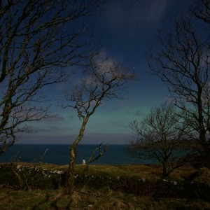 Aurora moonlight night Mull