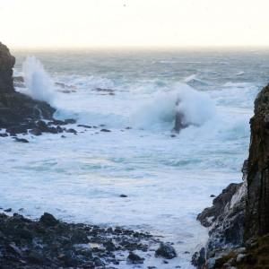 Storm Gertrude Mull Haunn stacks