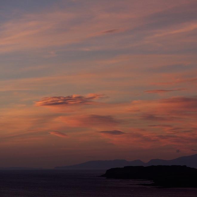 Treshnish Mull cottages sunset