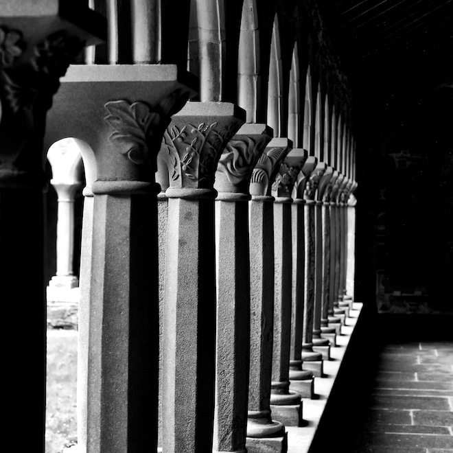Treshnish Mull cottages Iona Abbey cloisters
