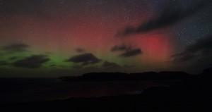 Aurora borealis time-lapse early