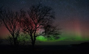 Aurora borealis time-lapse morning