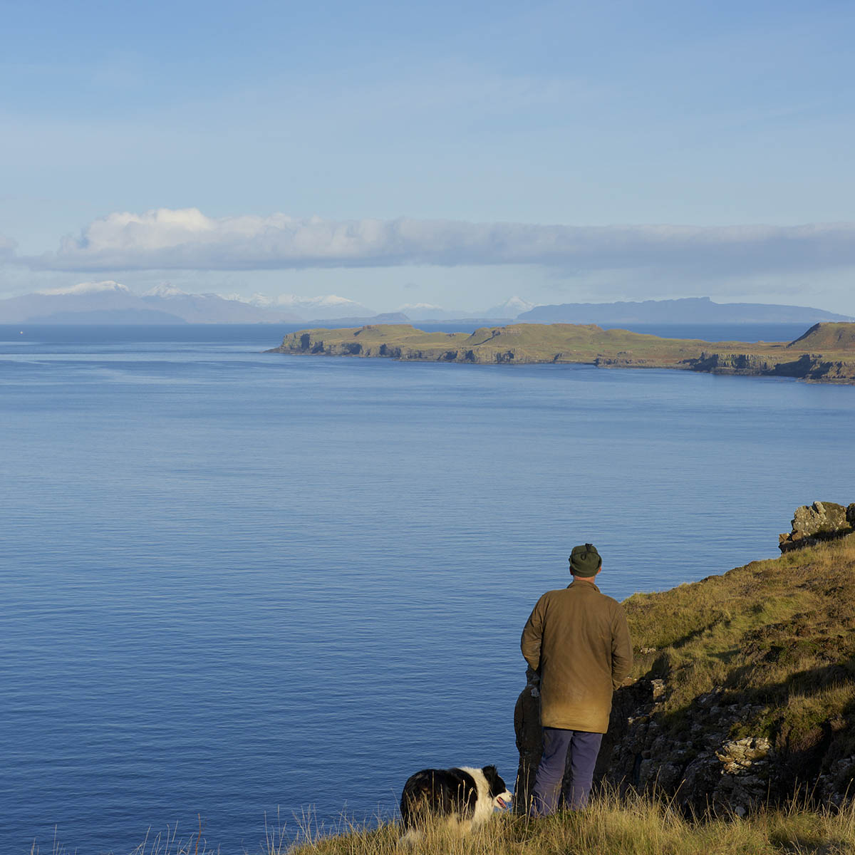 Treshnish Mull, self-catering cottages, one man and his dog