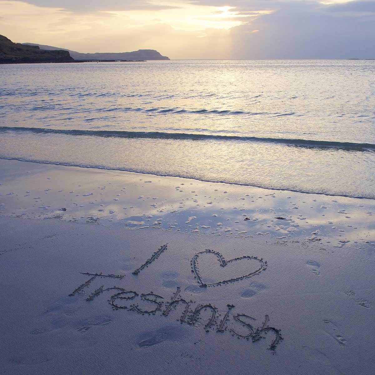 Treshnish, Mull, self-catering, beach time in September