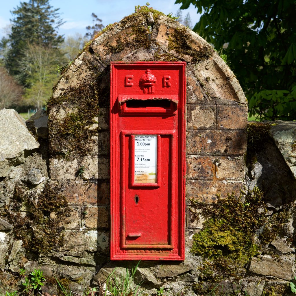 Treshnish mull island cottages April postbox