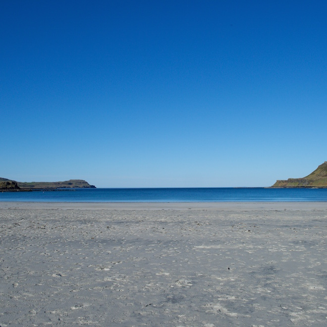 best beaches on Mull treshnish cottages calgary beach