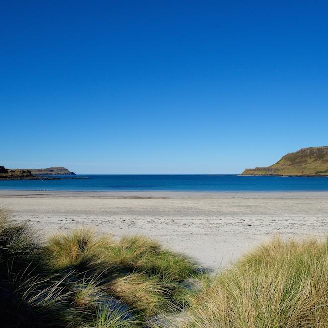 best beaches on mull treshnish cottages marram grasses