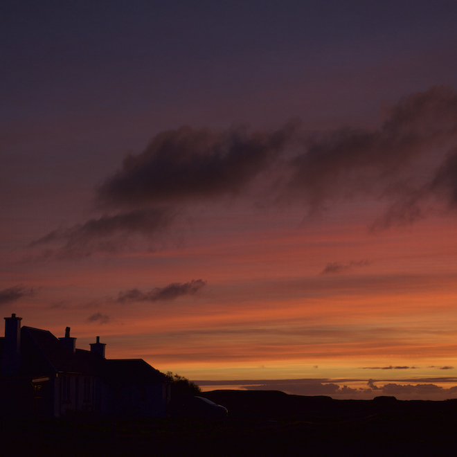 favourite places to watch Sunset Shian and Duill Treshnish Cottages Mull winter