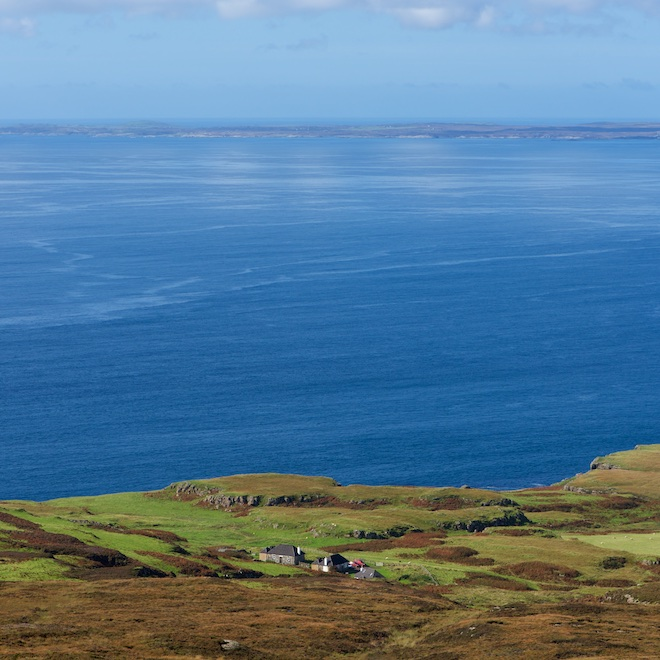 Mull in autumn Haunn Cottages sea views