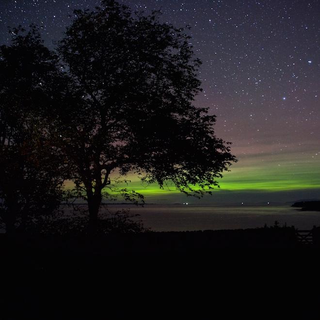 Treshnish Cottages dark skies Mull Aurora meteor