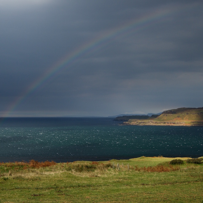 Treshnish Mull self catering cottages views rainbow