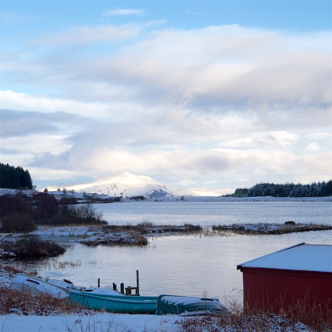 Happy New Year from Treshnish Mull Cottages snow