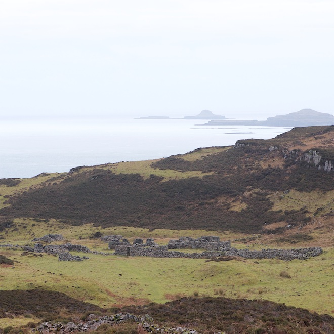 Treshnish Mull cottages early sighting Glac Gugaraidh