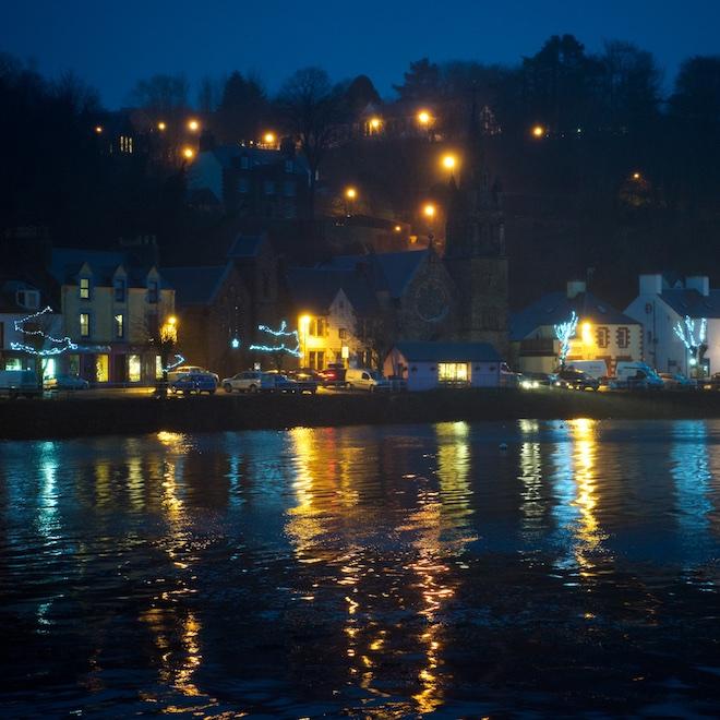 Treshnish Mull cottages Tobermory Book Festival lights