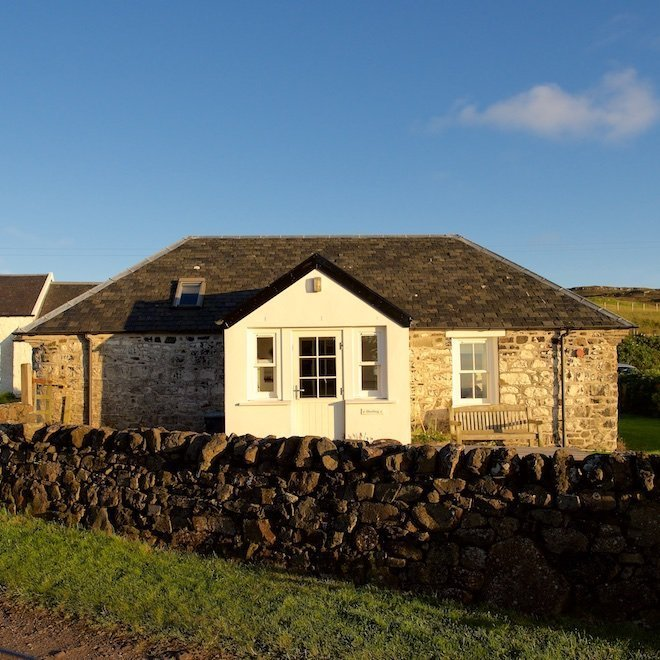 Shieling cottage sustainable tourism on mull