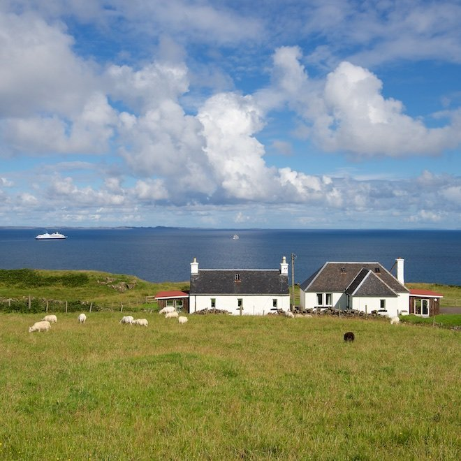 sustainable tourism on mull shian and duill cottages