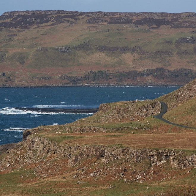 What3Words raod from Calgary to Treshnish Cottages Mull