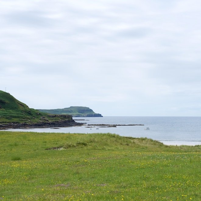 Treshnish still looking Mull holiday cottage August near Calgary Beach