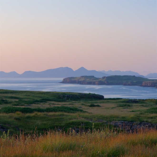 Sunset Treshnish Mull Cottages island life Rum