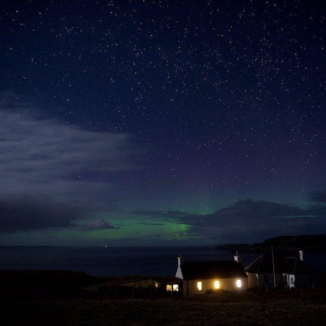 short break on Mull in October aurora Duill Cottage