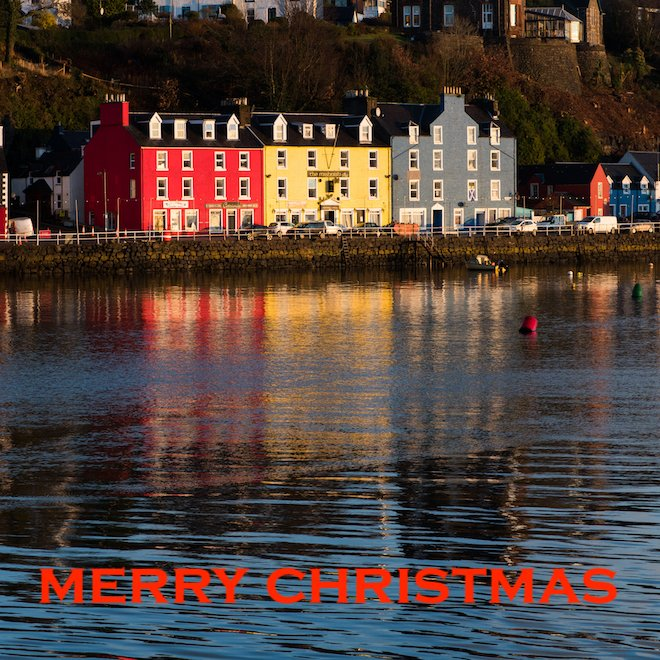Merry Christmas Mull cottages Tobermory Treshnish