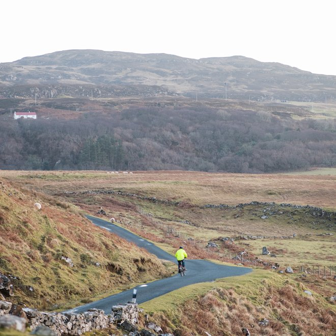 cycling on Mull to Treshnish cottages