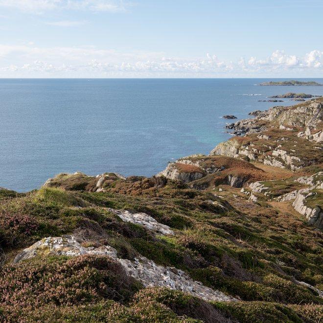 marble quarry on Iona coastline