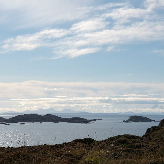 marble quarry on iona jura view