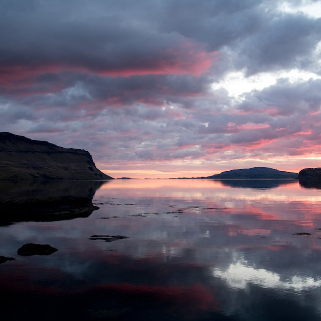 Sunset Loch na Keal Mull availability for 2022